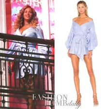 ALEXIS 'Mana' Asymmetric Wrap Dress (S) Balloon Sleeve $795 SOLD OUT NWT Beyonce