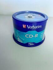 NEW! 50 VERBATIM CD-R CDR 700MB 52X Branded 80min Media Discs