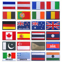 Nation flag emblem embroidered trim applique national country sew/iron on-patch-