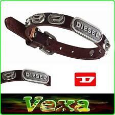 New DIESEL Genuine Leather Bracelet Dark Brown Bangle Wristband Men's Surf BD07