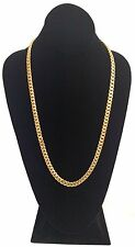 "26"" 14k Gold Plated Silver Miami Cuban Link Chain, 8 mm 100 grams"