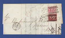 V55 GB QV 1875 4d PL16 EE SG144 + 1d PL155 ND SG44 ON ENTIRE GLASGOW TO REIMS