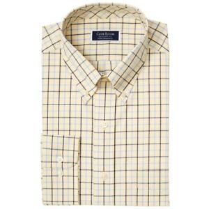 Club Room Mens Cotton Plaid Regular Fit Button-Down Shirt BHFO 2344