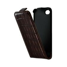 Housse étui coque pour Apple Iphone 4 / 4S couleur marron + Film de protection