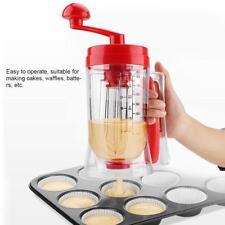 Manual Pancake Batter Dispenser Buddy Cupcake Waffles Mixer Breakfast
