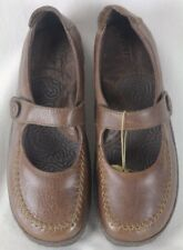 Born Nadaleen Chestnut Brown Leather Platform Shoes M/W NIB