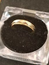 14k mens yellow and white gold band LOT X
