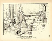 Rare 1887 Antique Fisheries Fish Print ~ The Halibut Fishery ~ Collection #2