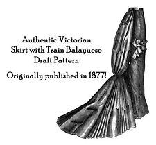 Civil War Victorian Era Train Skirt Pattern Draft 1868