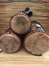 "Genuine African Dundun Drum Set with free bell. 10"", 12"", and 14"" drum heads."