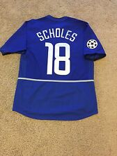MANCHESTER UNITED AWAY SHIRT 2002-03 ADULTS MEDIUM (M) SCHOLES 18 CHAMPION