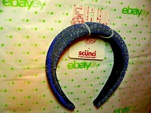 Scunci Headband Dark Blue Silver Sparkle Headband 1 Inch Wide New