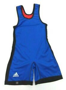 Adidas Unisex Youth Reversible Wrestling Singlet Kids Red & Blue medium