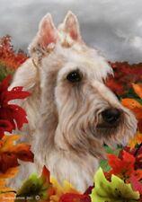 Fall Garden Flag - Wheaten Scottish Terrier 132271