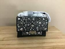 Michael Kors CeCe Medium Star Convertible Leather Shoulder Bag Black Silver NWT