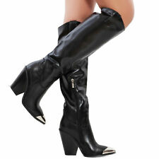 Stivali donna scarpe texani western cowboy punta metallo camperos TOOCOOL S521