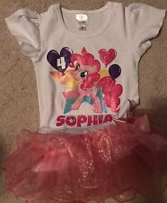 "Tee Shirt Tutu Party Dress ""Sophia"" Size 5/6T"