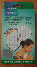 Soft Pad Snap Type Adhesive Electrodes. For portable wireless TeNS/EMS 108x49mm.