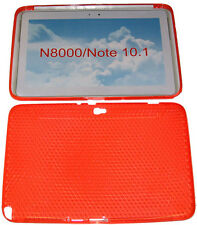 Pattern gel case housse protection orange pour Samsung Galaxy Note 10.1 N8000 N8010