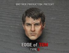 1/6 Scale Edge of Tomorrow Tom Cruise Head Carved Battle Damaged Head Model