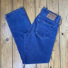 Levis Strauss 501 W32 L32 Straight Leg Blue Button Jeans