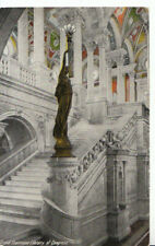 America Postcard - Grand Staircase, Library of Congress, Washington - Ref 10373A