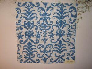 """Ralph Lauren, Mecox Damask Novelty, Remnant, 26"""" W X 26.50"""" L, Color Porcelain"""