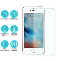 2 PACK Genuine Tempered Glass Film Screen Protector for Apple iphone SE