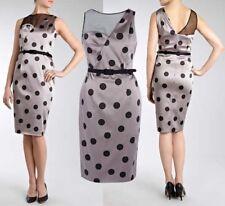 COAST Sz 10 AUBREE SPOT DUCHESS SATIN SHIFT DRESS