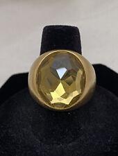 Designer POMELLATO 18K Gold Faceted Quartz Chunky Fashion Ring Size 8