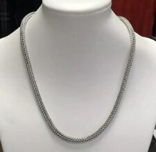 "SILPADA Sterling Silver Vintage 925 Heavy Spiga Necklace 18"" MINT!"
