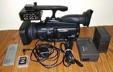 Panasonic AG-HMC40 AVCCAM HD Camcorder w/ XLR Audio, Only 326 Hour Use SDHC Card