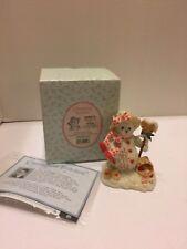 "Cherished Teddies Figurine ""Delight' Snowbear #848573 Enesco 2001 New In Box"