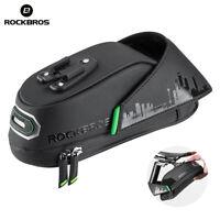 ROCKBROS Cycling Waterproof Saddle Bags Rear Seatpost Panniers Bag Black Green