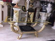 Medusa Couchtisch Glastisch Säulen griechische Tische Barock Style Gold 6029 k50