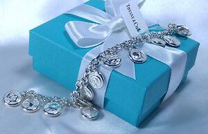 Tiffany & Co. Zodiac Horoscope Twelve Sign 12 Charm Bracelet Medium Silver 925