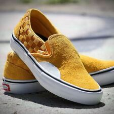 eb40d30930 New Listingnew mens 11.5 Vans Slip On Pro Hairy Suede Yellow Banana  Checkerboard