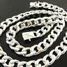 Necklace Chain Real 925 Sterling Silver S/F Solid Mens Curb Cuban Link 20""