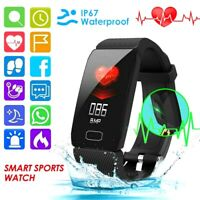 Blood Pressure Oxygen Heart Rate Sport Fitness Smart Watch Wrist Band Bracelet