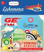 Carta Bella CARTOPIA 33pc EPHEMERA Die Cut Pieces Car Road Trip 69024