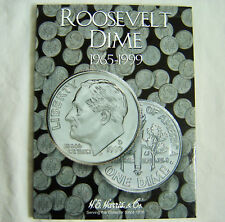 HE Harris Roosevelt Dime Coin Folder 1965 - 1999 Book Album 8HRS2685