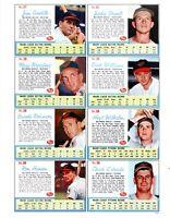 1962 Post Cereal Baseball REPRINT Uncut Sheet # 6213