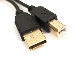 USB Printer Cable Gold Plated 2.0 A to B Lead Plug 1m 2m 3m 5m Epson Canon HP
