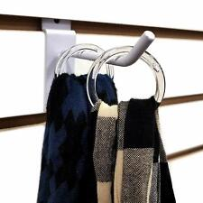 Clear Plastic Retail Scarf Rings Round Fine Garment Hangers