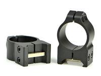 "Warne Maxima 1"" Med Profile 4-Screw Steel Scope Rings for Picatinny/Weaver Rail"