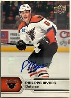 2017-18 Philippe Myers Upper Deck AHL Autographs SPs #113 Phantoms Flyers