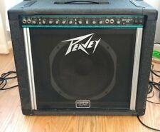 "1990's Peavey USA Bandit 112 Guitar Amplifier Teal Blue Stripe Scorpion 12"" 80w"