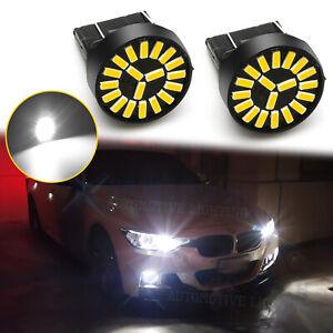 2x 7443 7444NA 7440 7505 Super White 6000K Daytime Running Light DRL LED Bulbs