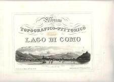 Stampa antica COMO VEDUTA DAL LAGO Falkeisen Lago di Como 1838 Old antique print