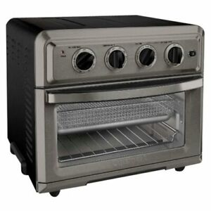 Cuisinart TOA-60BKS Convection Toaster Oven Air Fryer w/ Light, Black Stainless